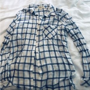 Anthropologie Cloth and Stone Flannel Button Down